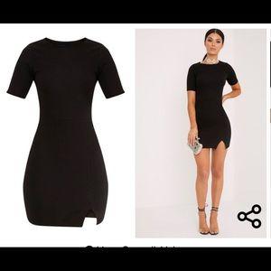 Pretty Little Thing Black Split mini dress